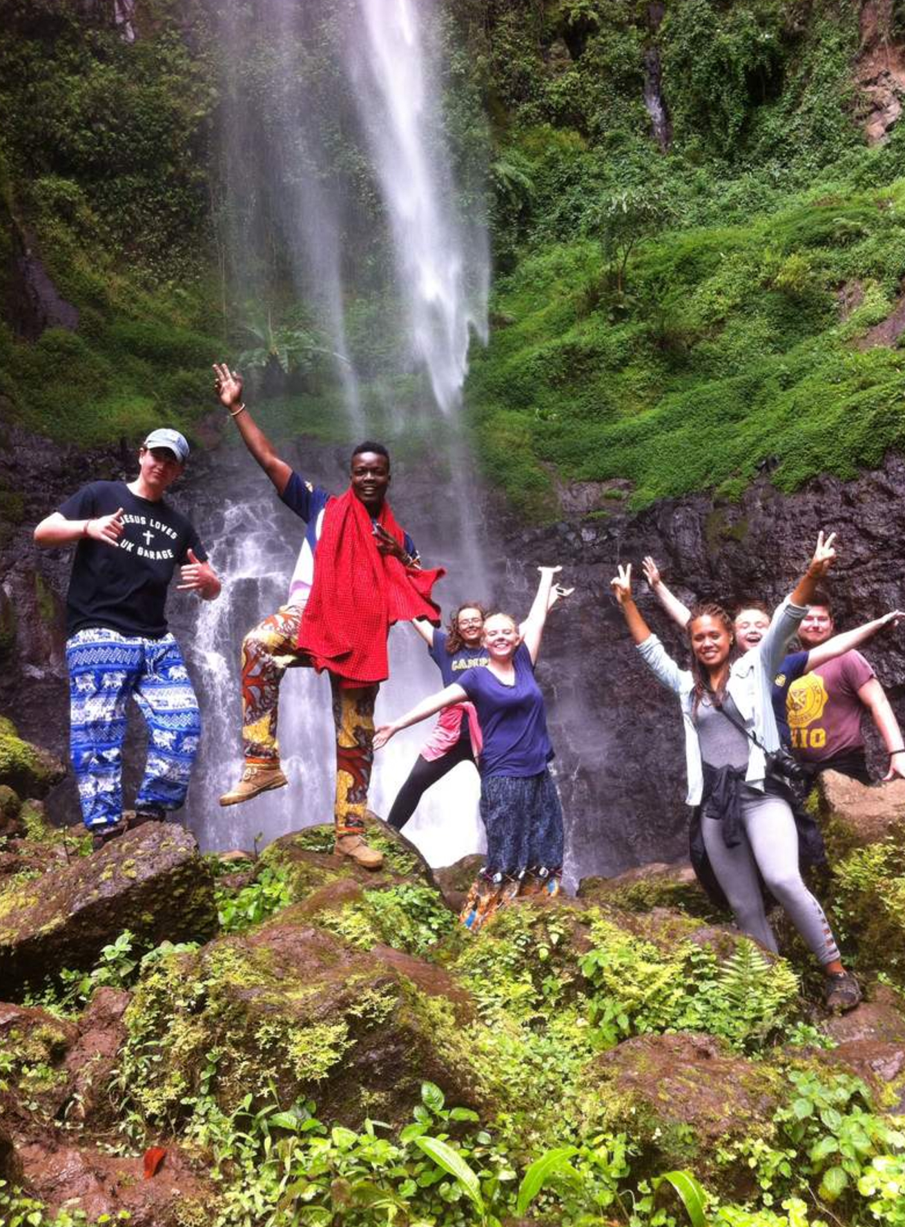 school_expedition_tanzania_impact_waterfall_celebration