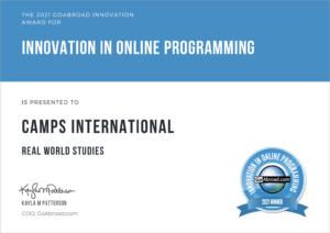 Go Abroad-Innovation Online Programming-Camps International-2021 Winning Certificate